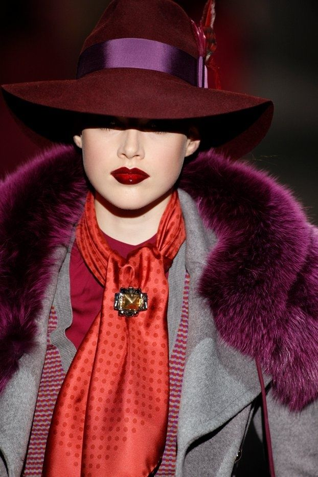 Ralph Lauren.  Oh that Ruby Red lipstick is awesome.