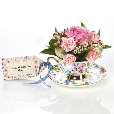 Fresh Teacup Flowers