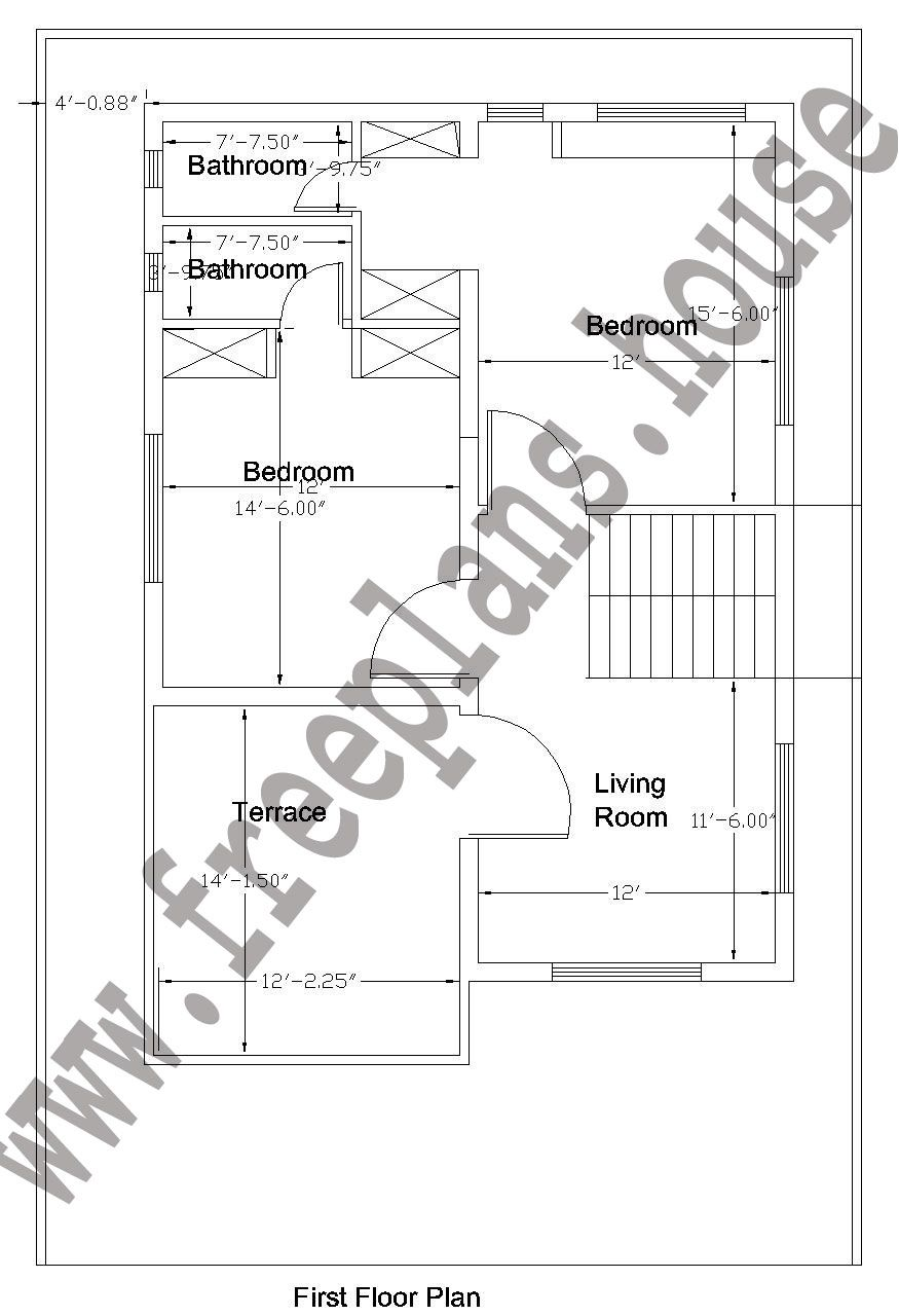 32×50 Feet/148 Square Meters House Plan, | Plans in 2019 | House