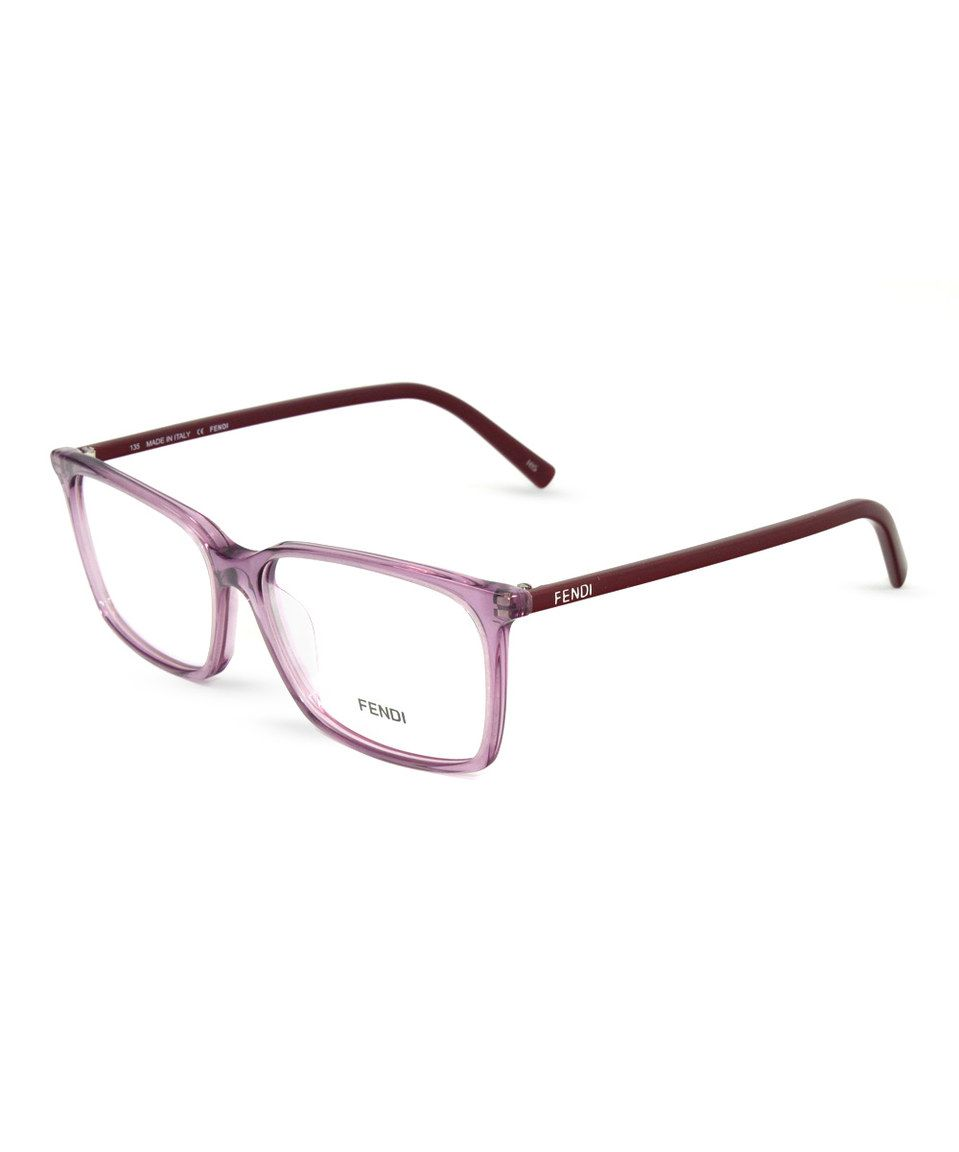 03bb1f45e976 Another great find on  zulily! FENDI Translucent Purple Square Frame  Eyeglasses by FENDI  zulilyfinds