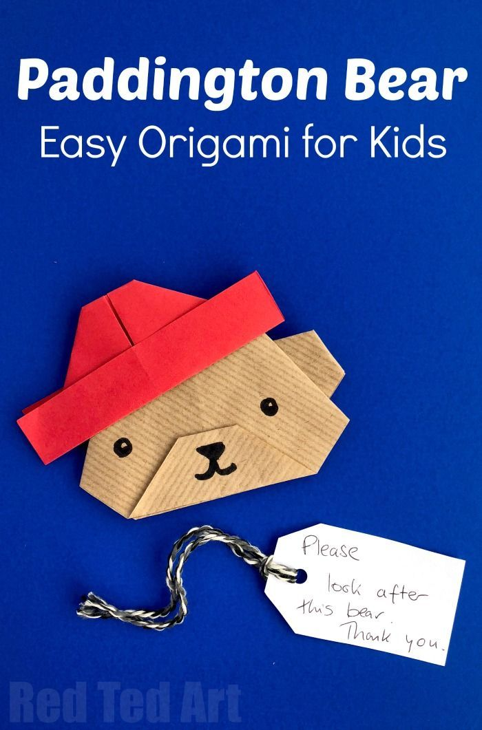 Easy Paper Paddington Bear Craft - Oh my, how cute is this Origami Bear? Not just any bear.. but Origami Paddington Bear? Love love love. If you love Paddington and the Paddington Bear Movies, have a go at this lovely little paper crafts for kids.. wouldn't they make great Paddington Party Invites?! #Paddington #Paddington2 #PaddingtonBear