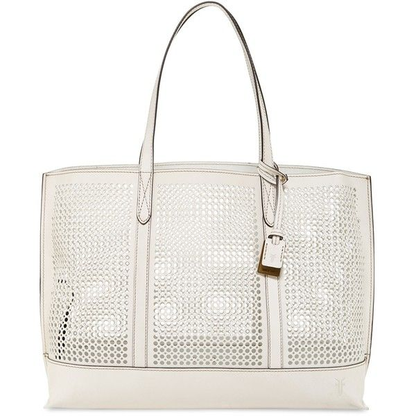 Frye Peyton Perforated Leather Tote 150 Liked On Polyvore Featuring Bags
