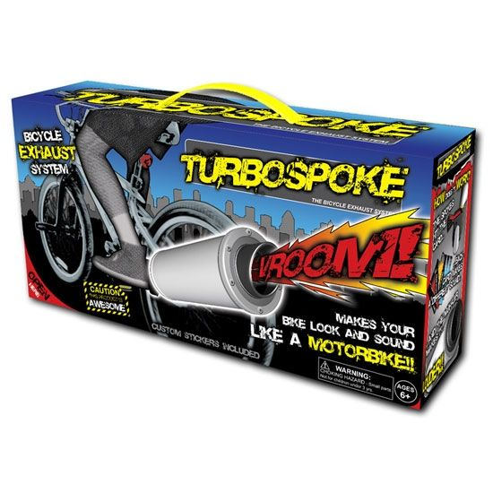 Brand New Child Bike Turbospoke bicycle exhaust system sound Toy