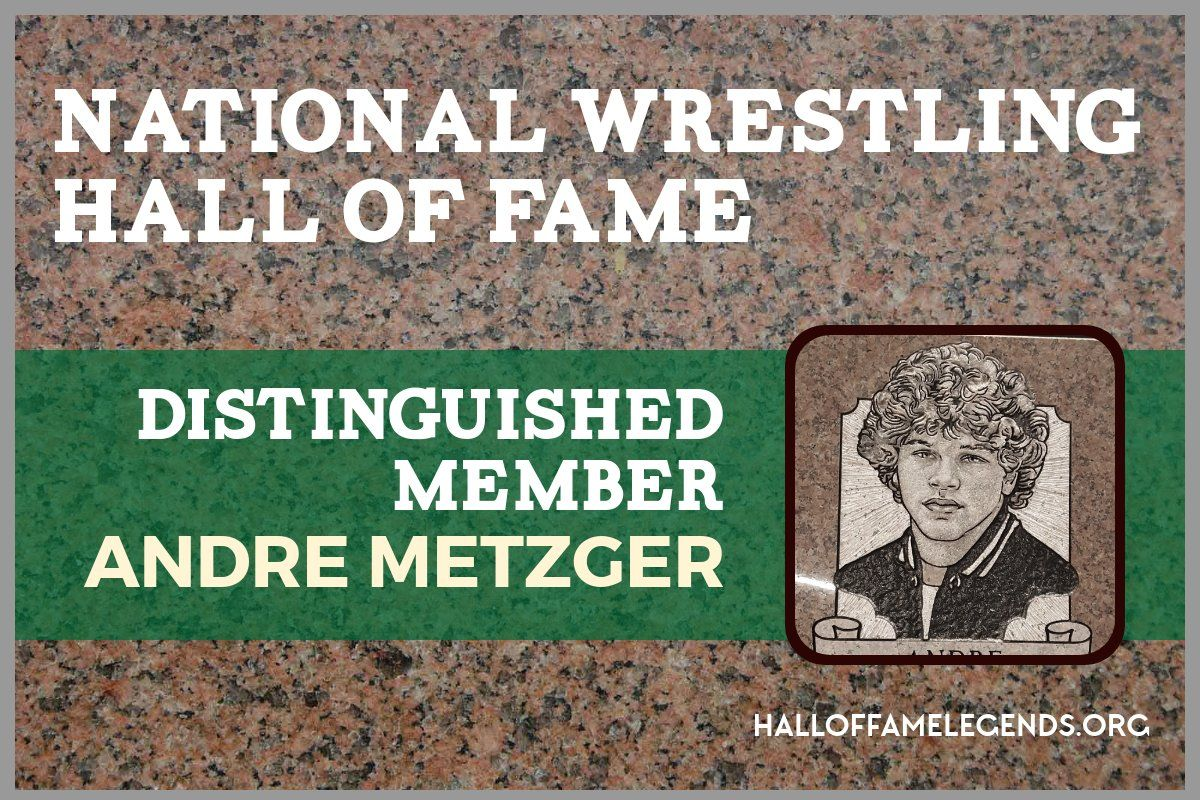 2017 Distinguished Member Andre Metzger, Twotime NCAA
