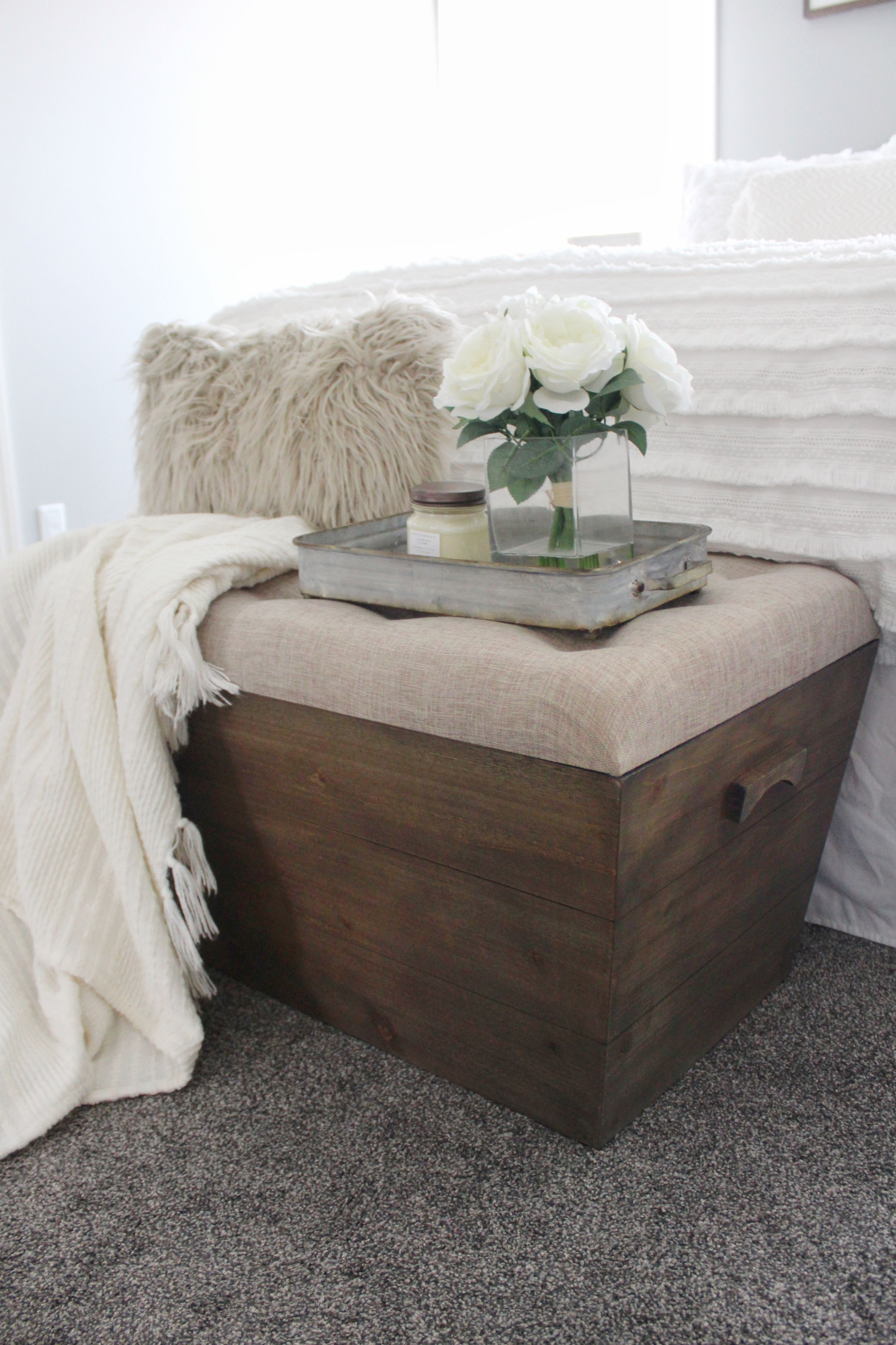 Slatted Wood Crate Bench Crate bench, Living room bench