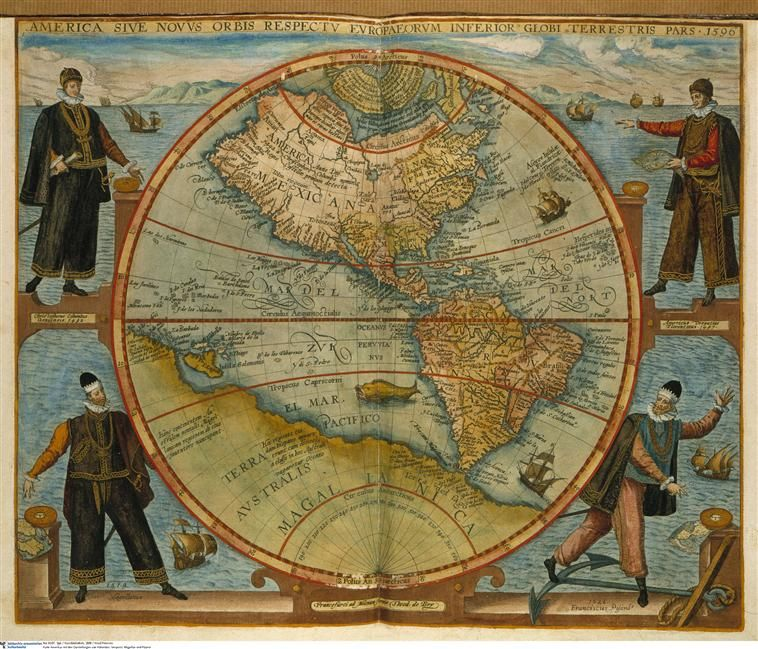 Amerigo Vespucci Map Of America.Map Of America 1566 Engraved By Johann Theodor De Bry With
