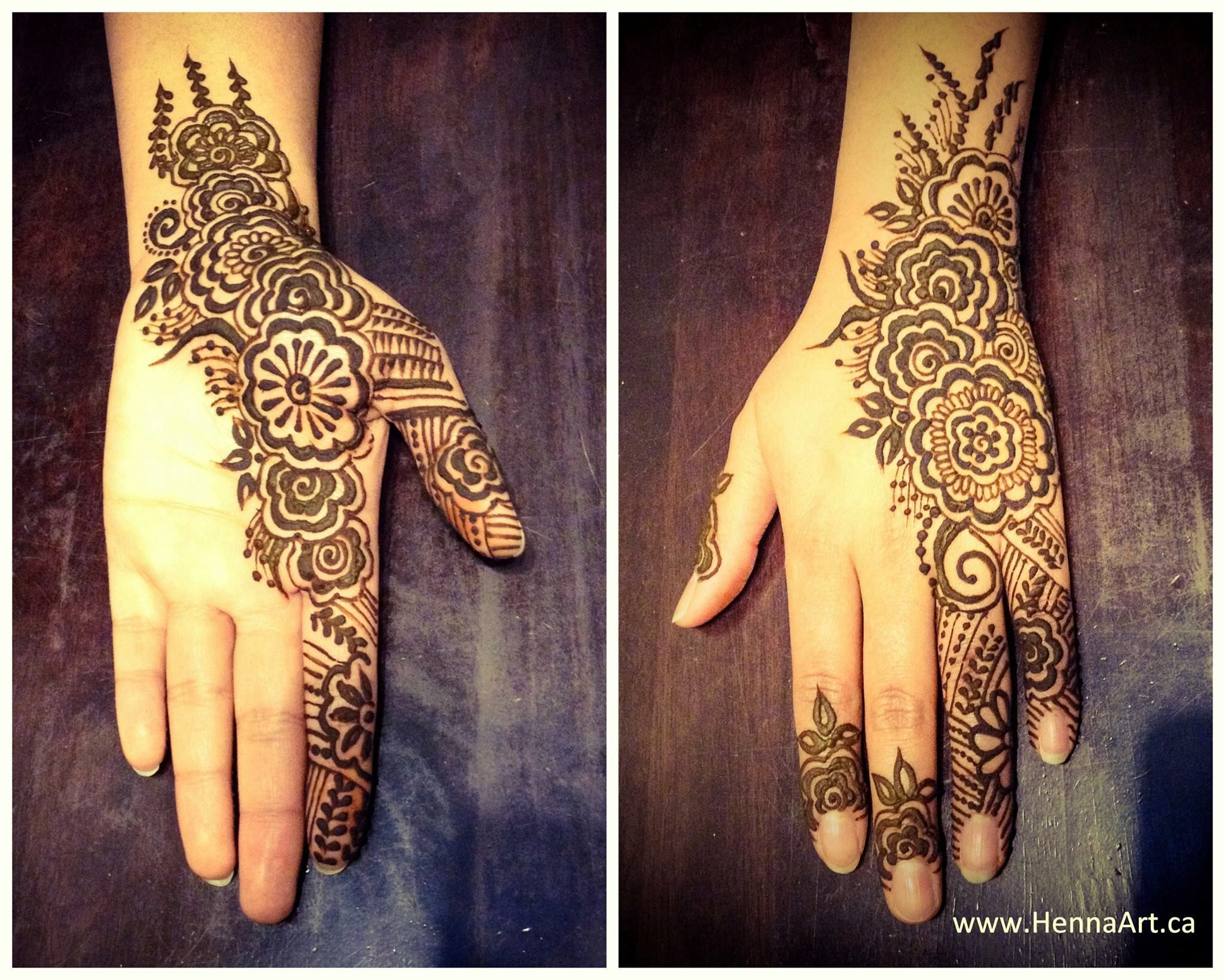 Gulf inspired henna design this design is also known as khalijee or