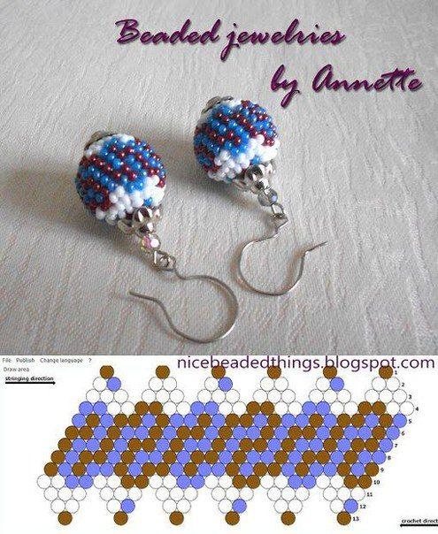 SCHEMES Busin mit Perlen geflochten | EARRINGS | Pinterest ...
