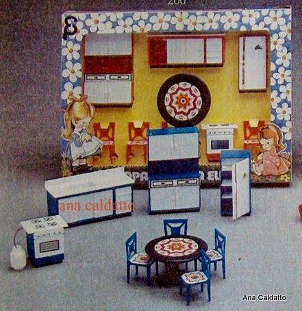 Anos 80 mini moveis elka mobilia casinha de boneca for Mobilia anos 50
