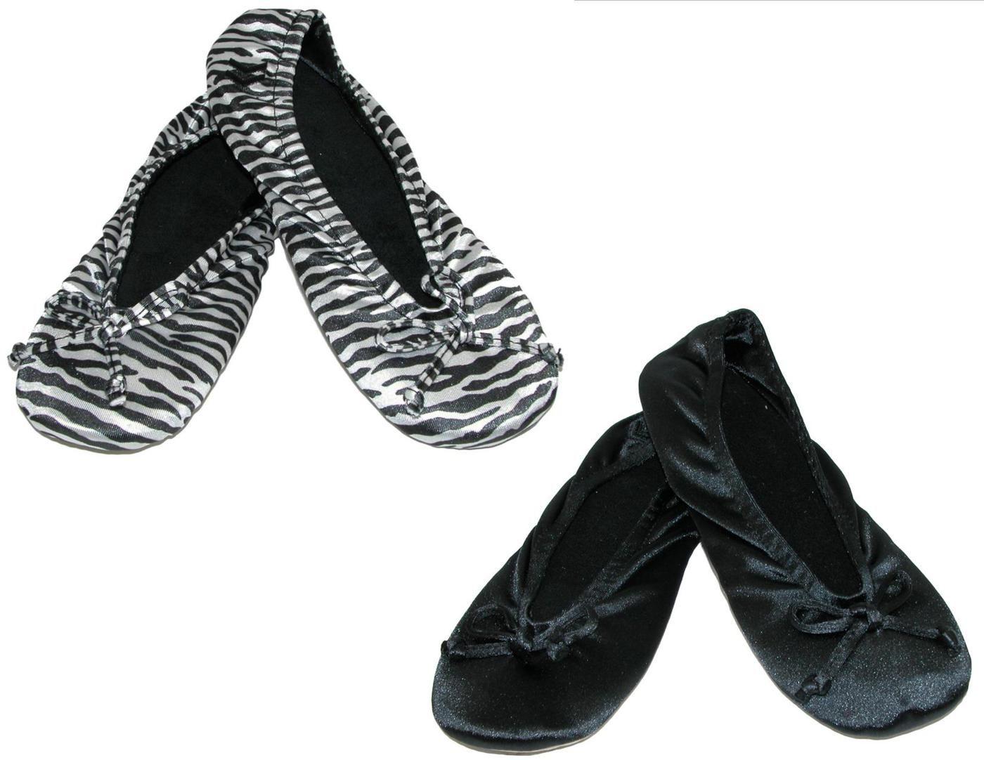 Isotoner Women's Satin Classic Ballerina Slippers (Pack of 2