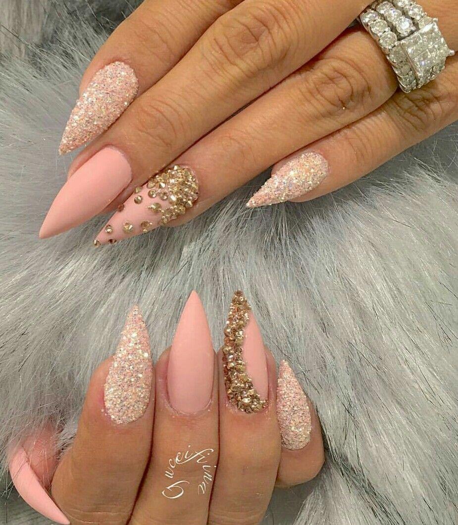 N В~>~   ~<~Nails~>~   Pinterest   Diseños de uñas, Uñas con piedras ...