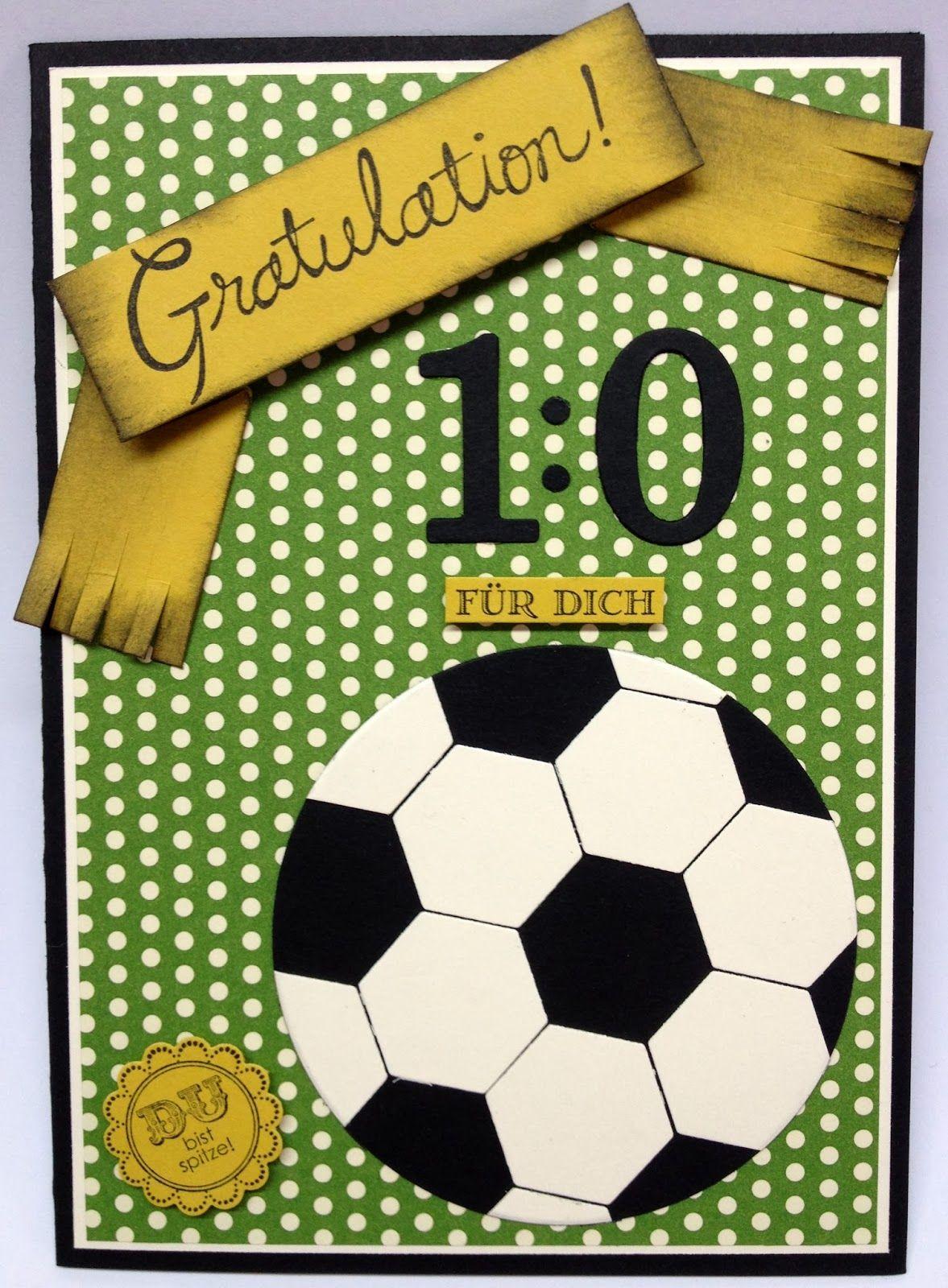 Willkommen Im Bastel Wunderland Fussball Geburtstagskarte