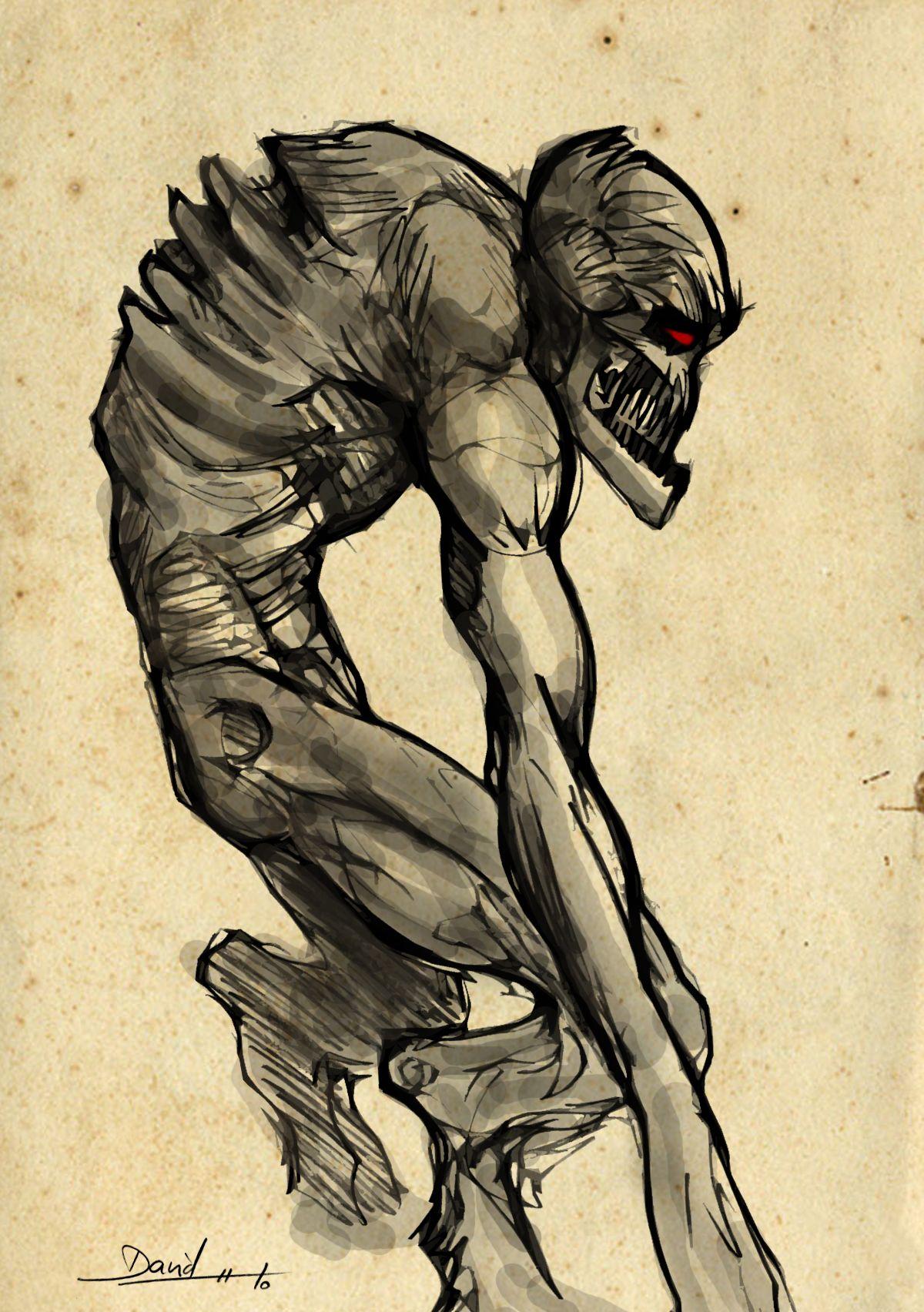 Dibujos A Lapiz De Monstruos