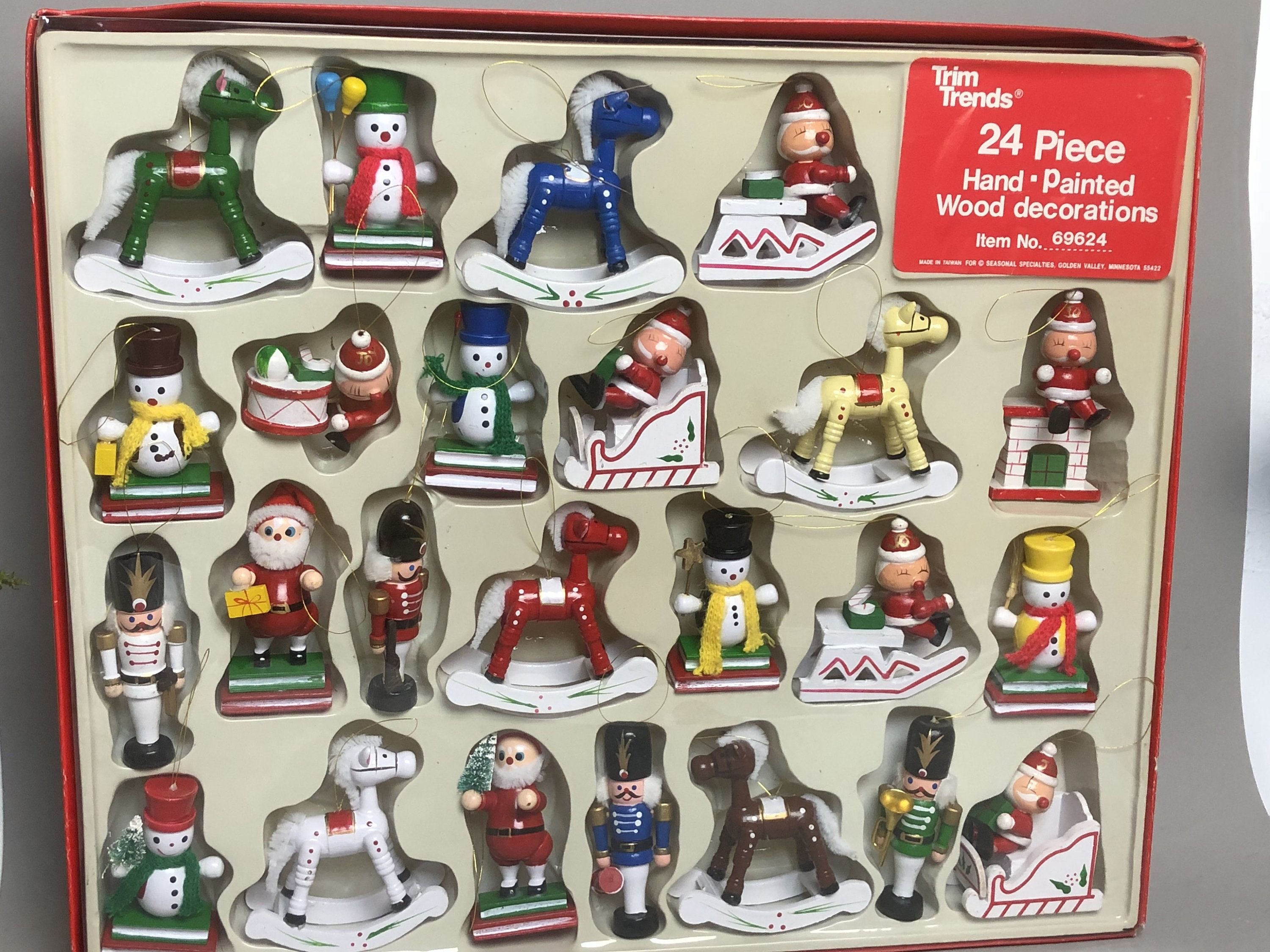 Saved For Janet Trim Trends 24 Pieces Wooden Christmas Etsy Wooden Christmas Ornaments Christmas Ornaments Nutcracker Soldier