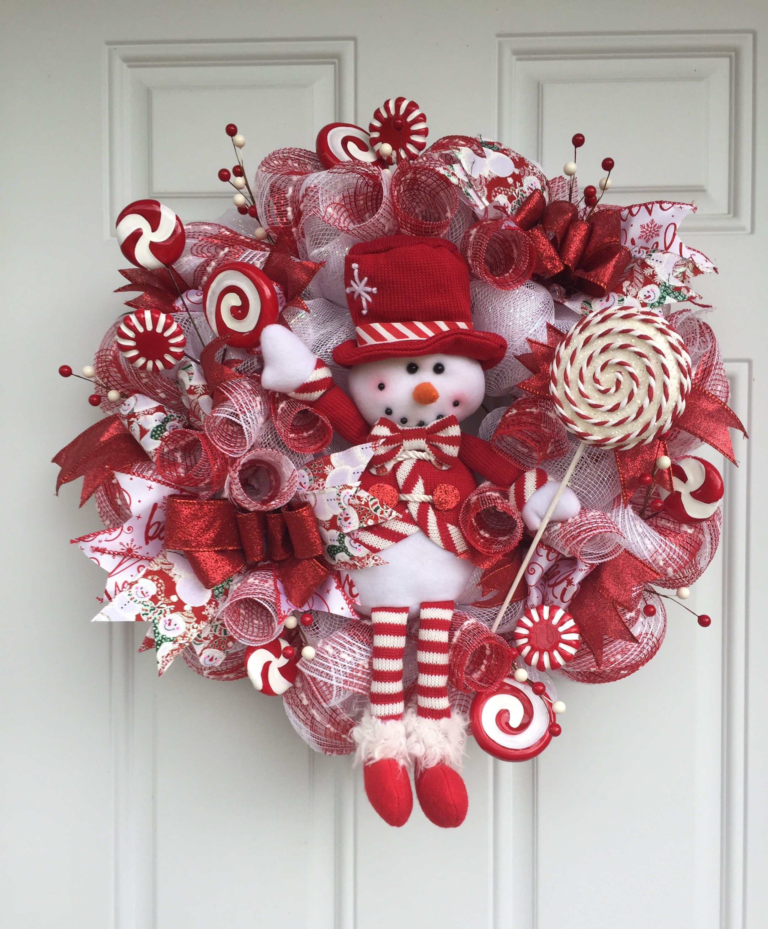 Snowman Wreath Christmas Home Decor by