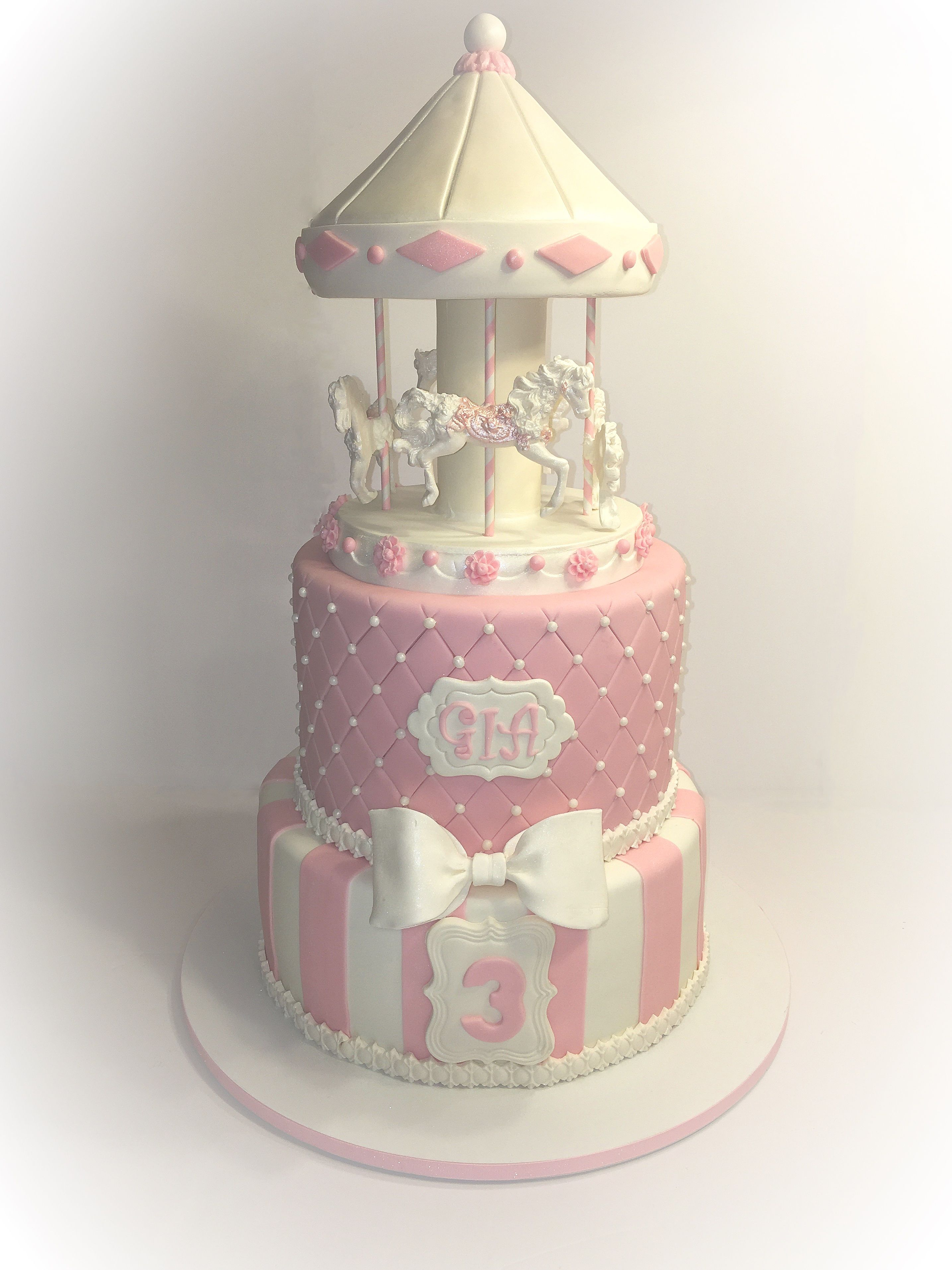 Carousel Birthday Cake Cakes Pinterest Carousel Birthday