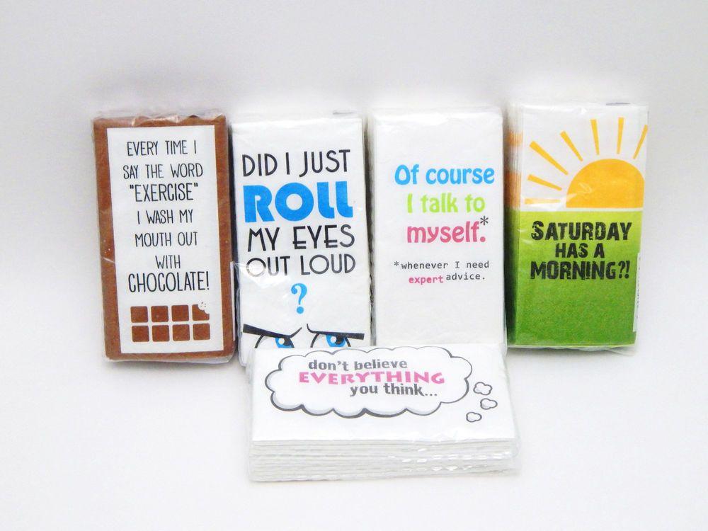 Lot of 5 packages Swankies Hankies Pocket Tissues - Funny