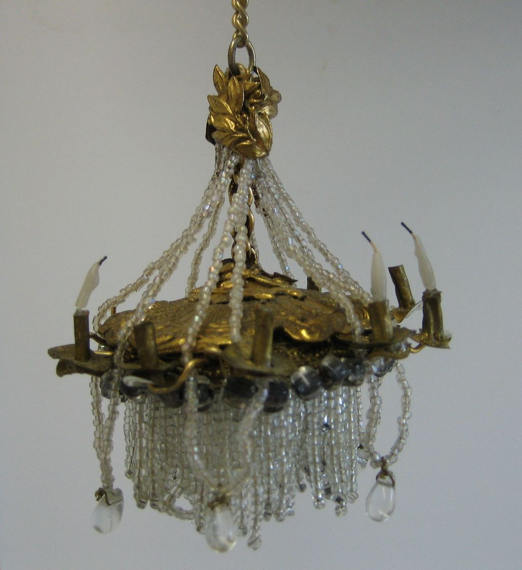 Beaded dollhouse antique french ormolu beaded miniature beaded dollhouse antique french ormolu beaded miniature dollhouse chandelier arubaitofo Image collections