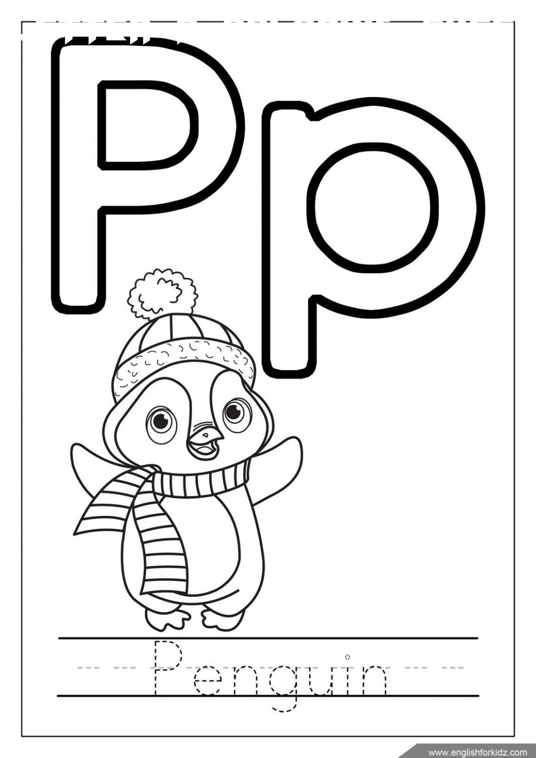 10 Letter P Coloring Sheets In