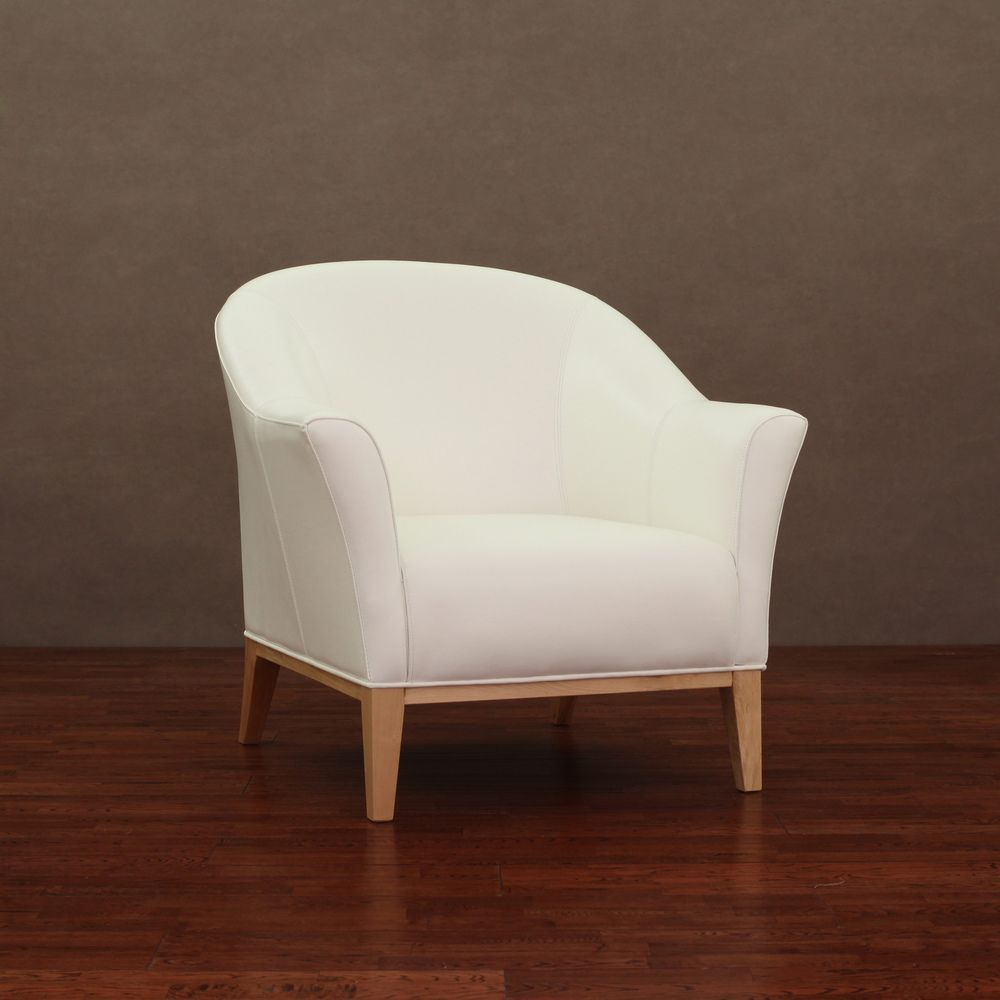 Tivoli Modern White Leather Chair   Overstock™ Shopping   Great Deals On  Living Room Chairs