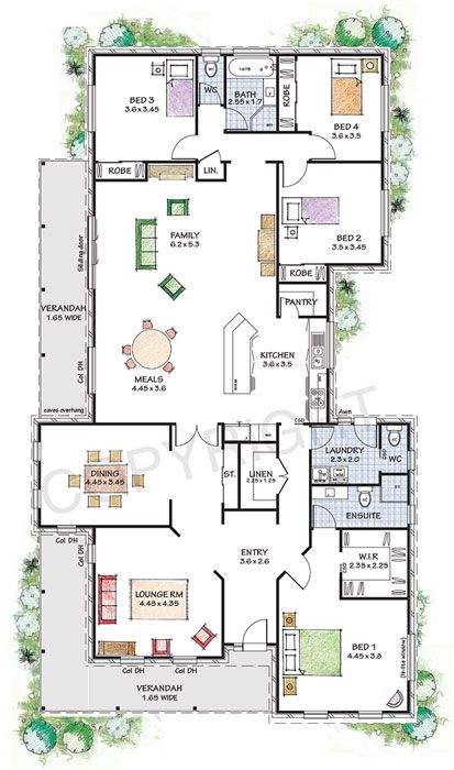 Windsor Steel Frame Kit Home Nsw Qld Vic Australia Sims House Plans My House Plans Dream House Plans