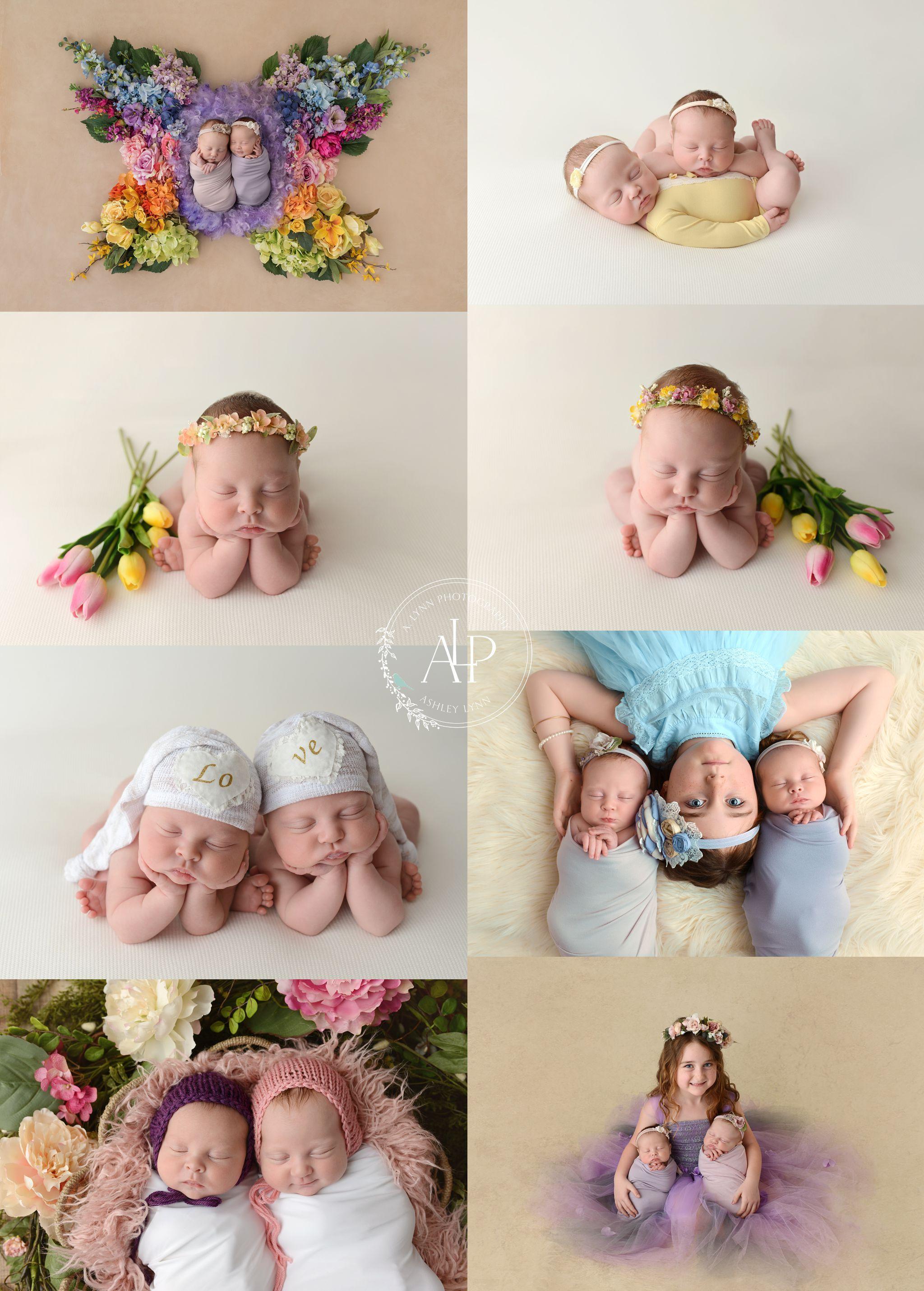 Twins twin girls newborn twins twin with sibling