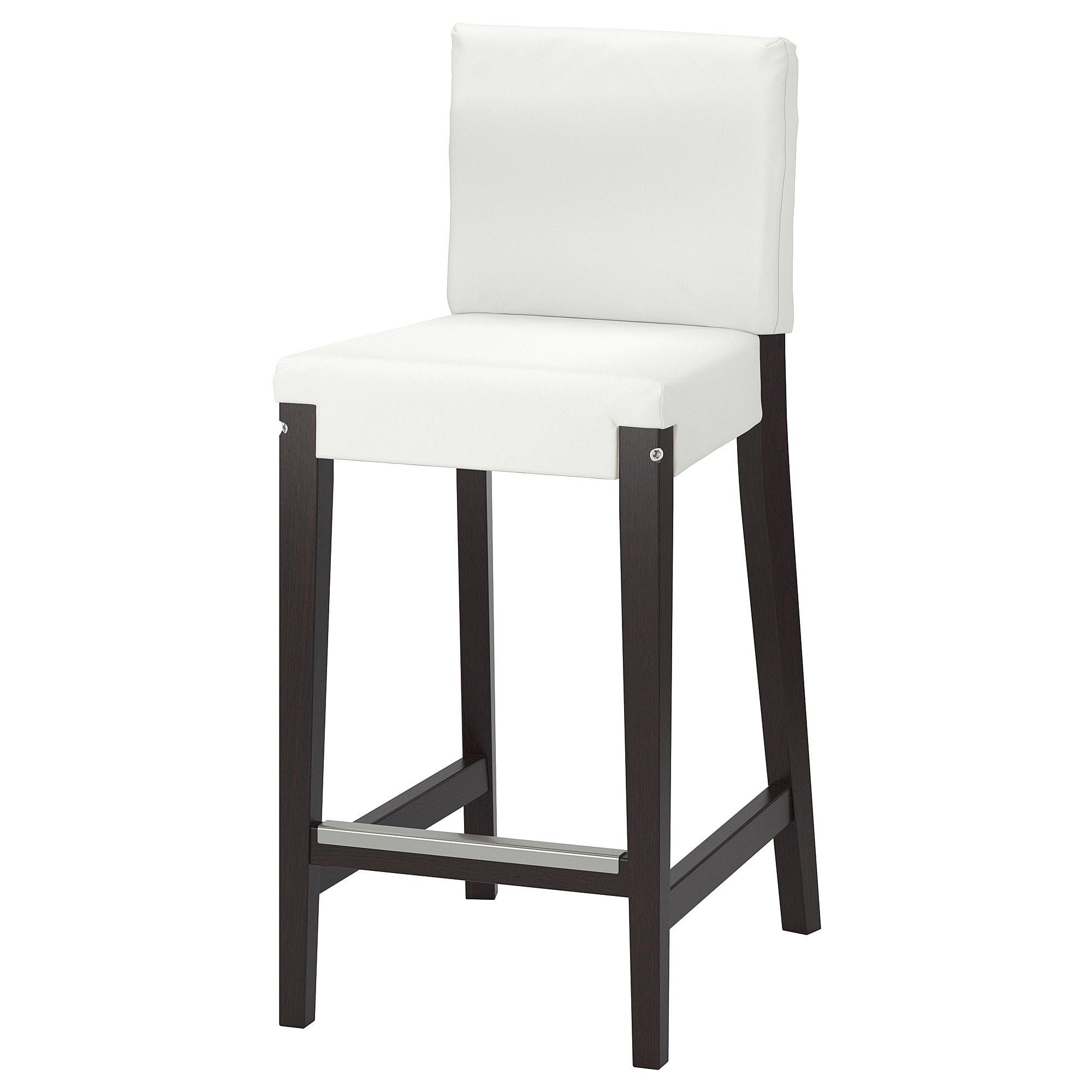 Ikea Henriksdal Dark Brown Bar Stool With Backrest Frame In 2019 Bar Stools Brown Bar Stools Stool