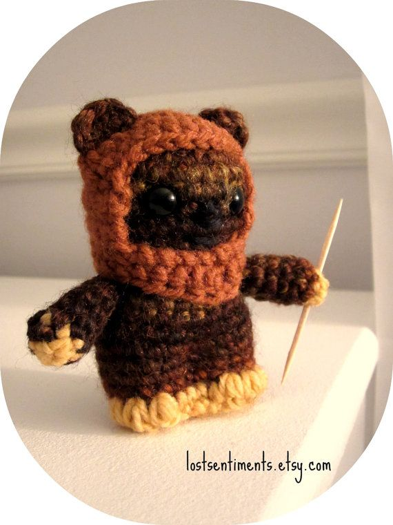 Ewok from Endor - Star Wars Miniature Amigurumi Doll - MADE TO ORDER ...