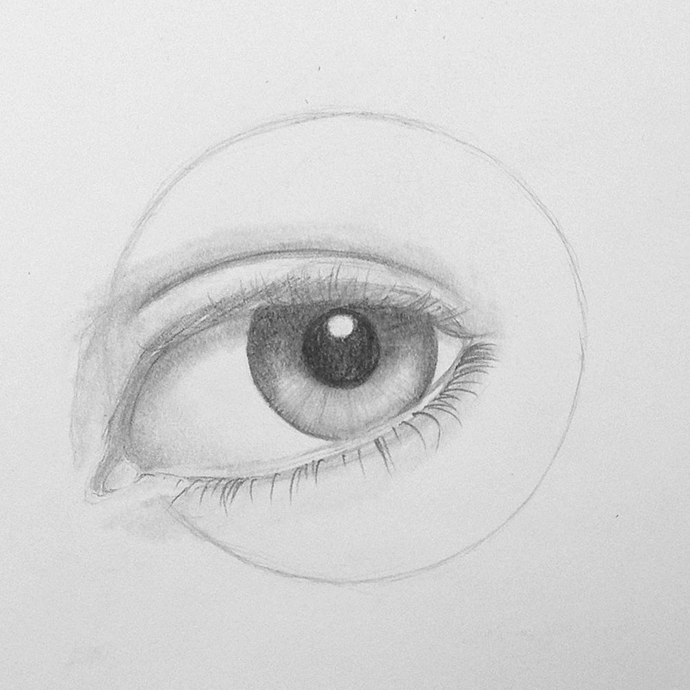 Auge zeichnen - Schritt 7   Augen zeichnen, Zeichnen ...