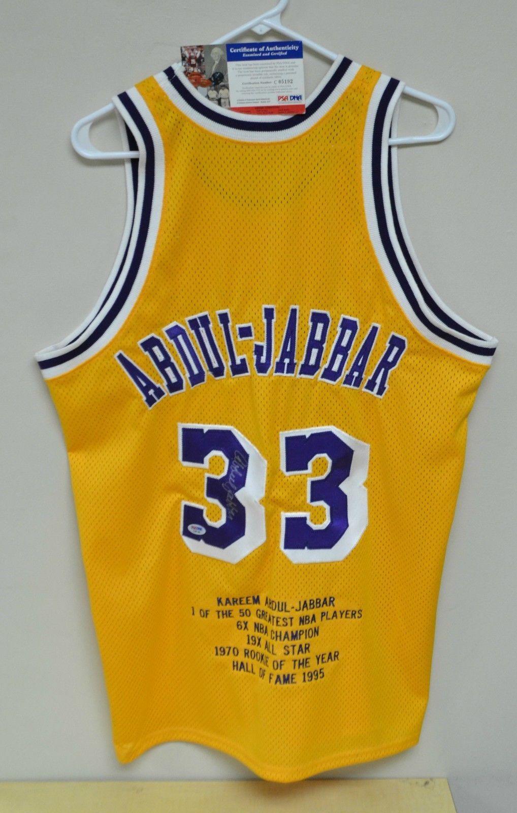 Kareem Abdul-Jabbar Autographed Career Highlight Lakers Jersey w PSA DNA  COA (eBay Link) 56e1395ae