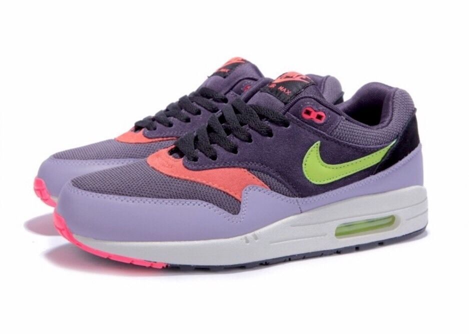 timeless design 1dc45 ec937 NIKE AIR MAX 1 ESSENTIAL CAVE PURPLE-GREEN SiZe 15  537383-500   Nike   RunningCrossTraining