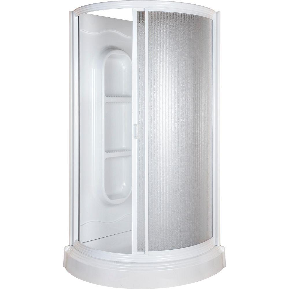 Null 38 In X 38 In X 78 In Shower Kit In White Shower Kits
