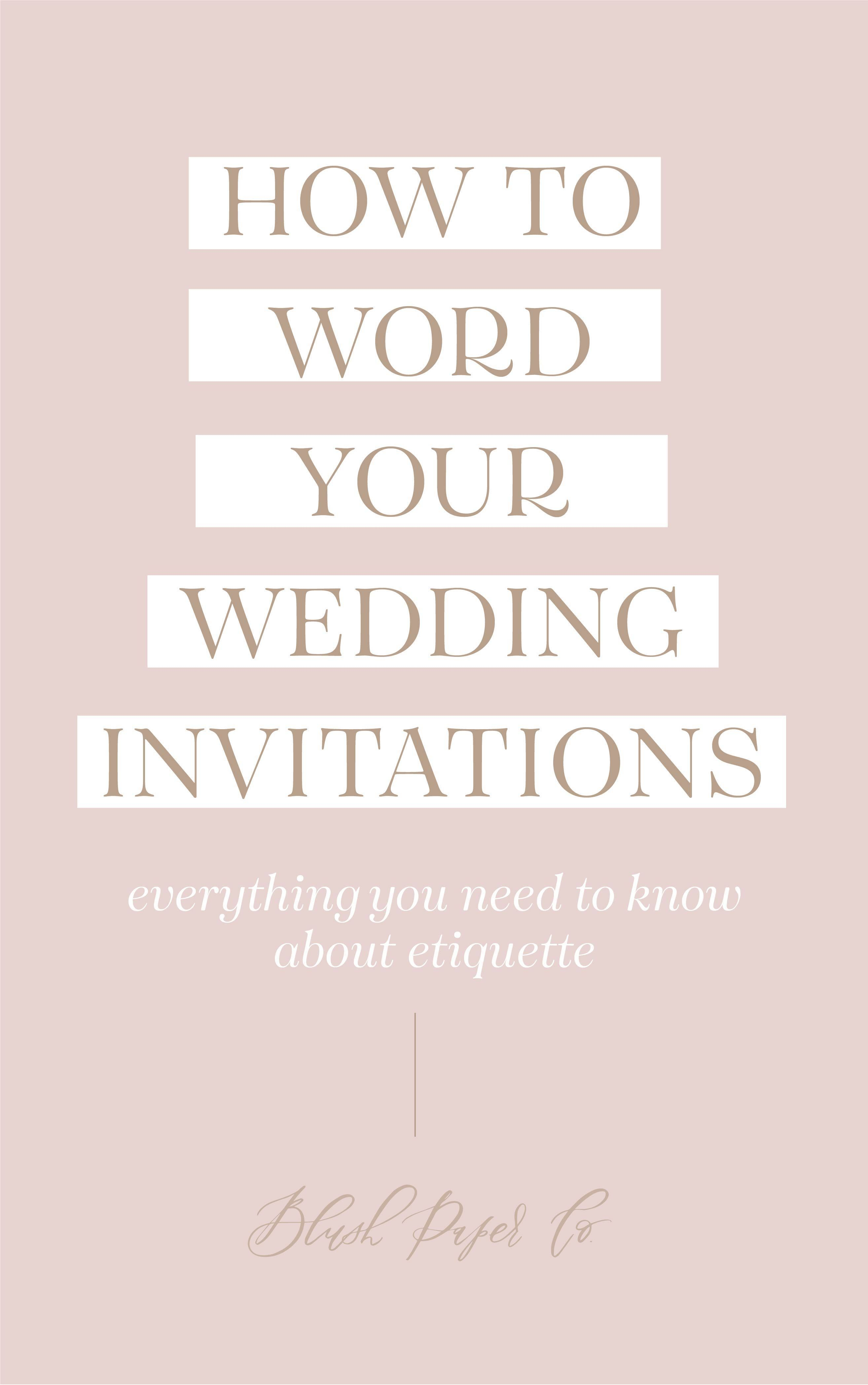 How To Word Wedding Invitations In 2020 Wedding Invitations Light Pink Wedding Invitation Wording Wedding Invitations