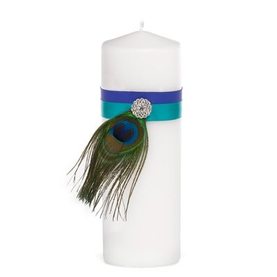 Peacock Feather Unity Candle