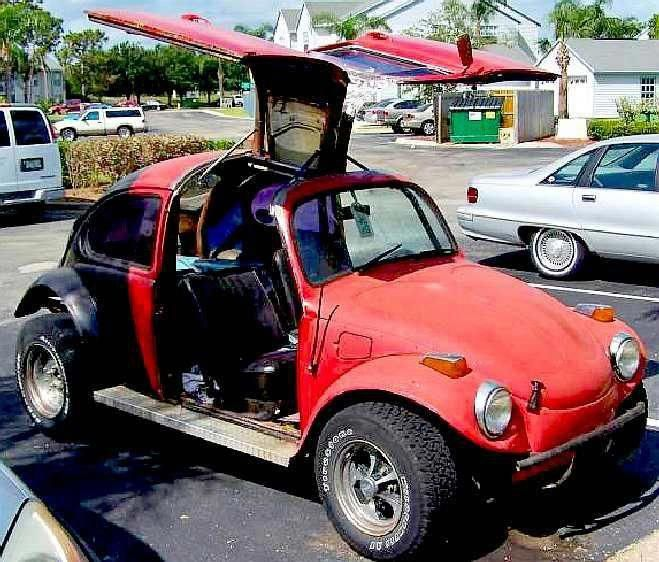 VW Beetle With Gull Wing Door Conversion