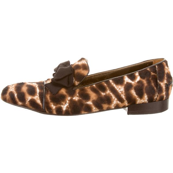 Lanvin Ponyhair Bow Loafers