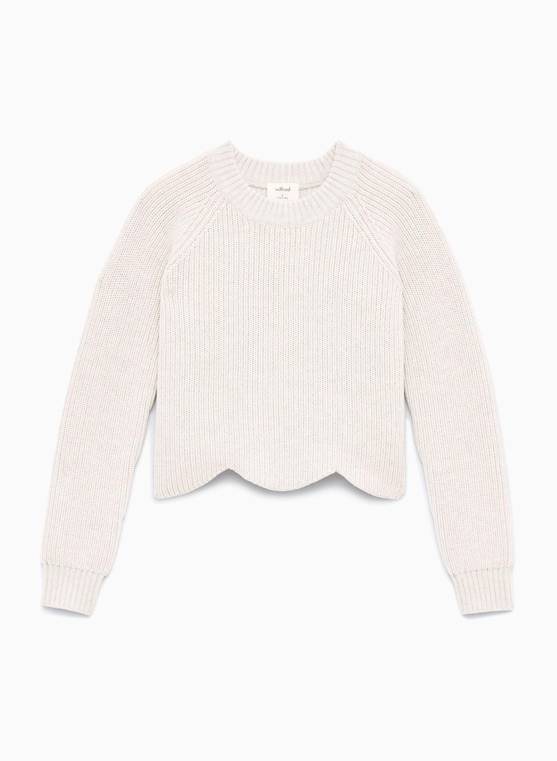 Wilfred SARDOU SWEATER   Aritzia   Sweaters, Scallop sweater