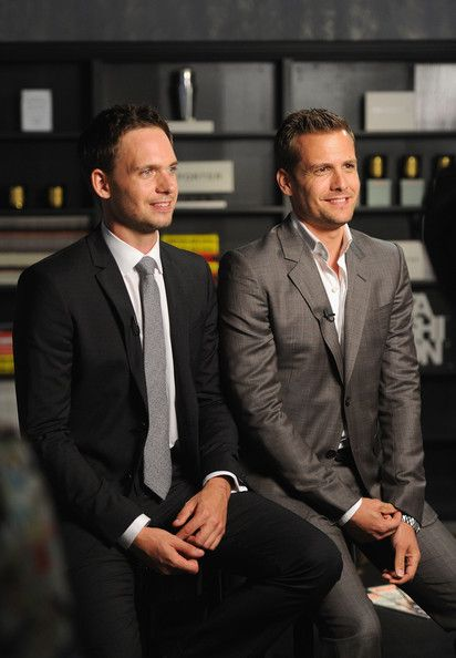 gabriel macht and patrick j adams photos photos usa network and mr porter com present a suits story suits tv suits harvey suits series gabriel macht and patrick j adams