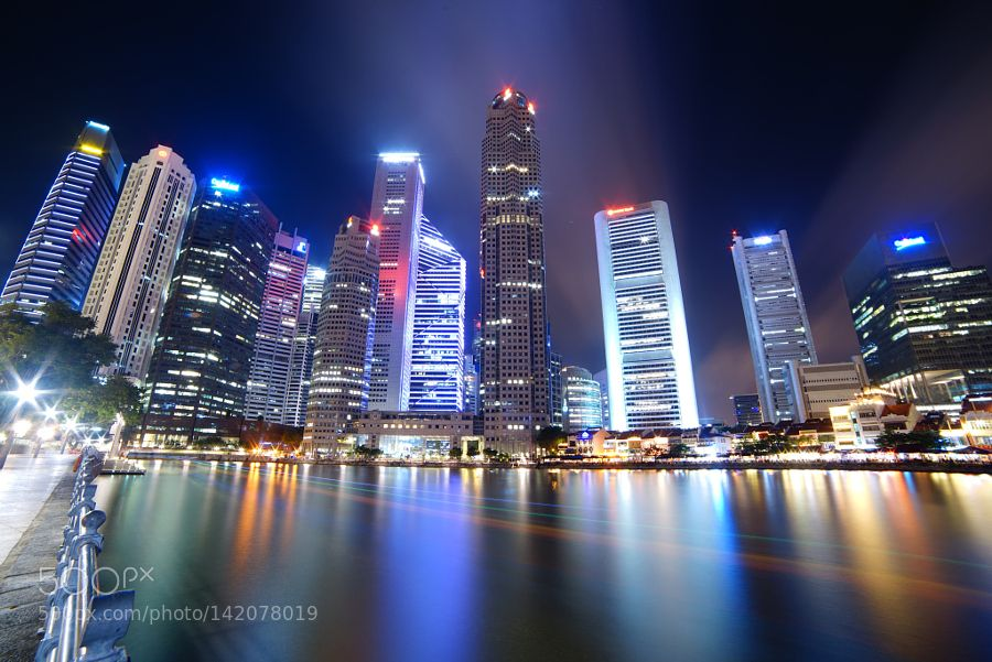 Raffles Place of Singapore by feipengwu10
