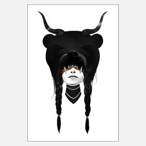 Bear Warrior Print 51x76now featured on Fab