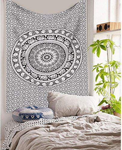 Elephant Mandala Hippie Tapestry Indian Traditional Throw