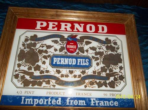 Rare Pernod Mirror Sold Home Bar Decor And So Much More