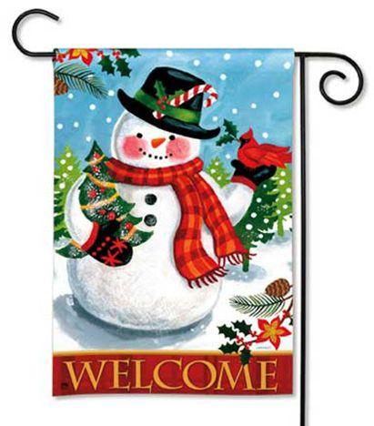Cheery Snowman - Christmas / Winter Garden Flag