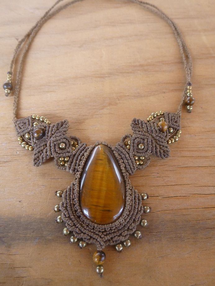 #macrame necklace, #micro-macrame, #gipsy.