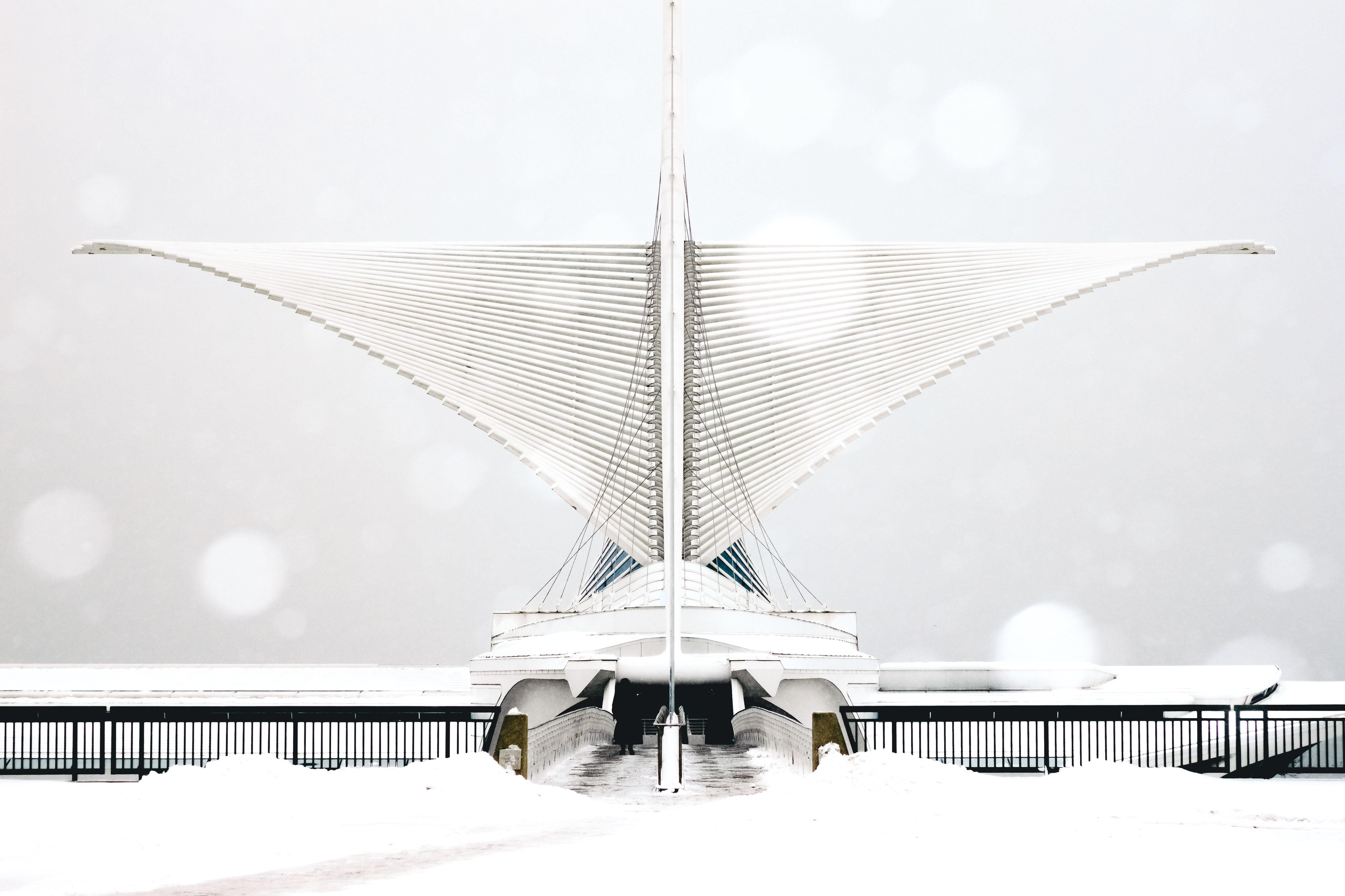 ITAP of the Milwaukee Art Museum during a snowfall http://ift.tt/2hQc9bs