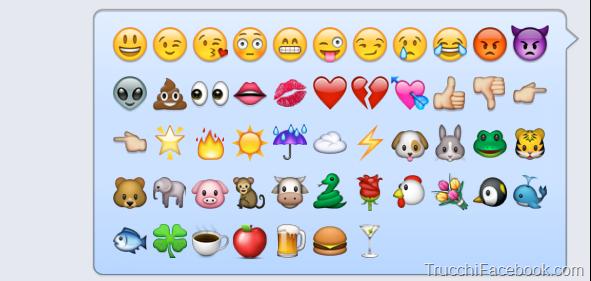 hidden facebook emoticons - Custom Tricks | Emojis