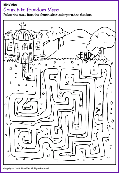 Church To Freedom Maze (Holy Land Tours) - Kids Korner Sunday School Kids,  Coloring Pages For Kids, Bible Crafts