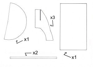 Fabriquer une fus e space party pinterest fus e gabarit et maison en carton - Gabarit maison en carton ...
