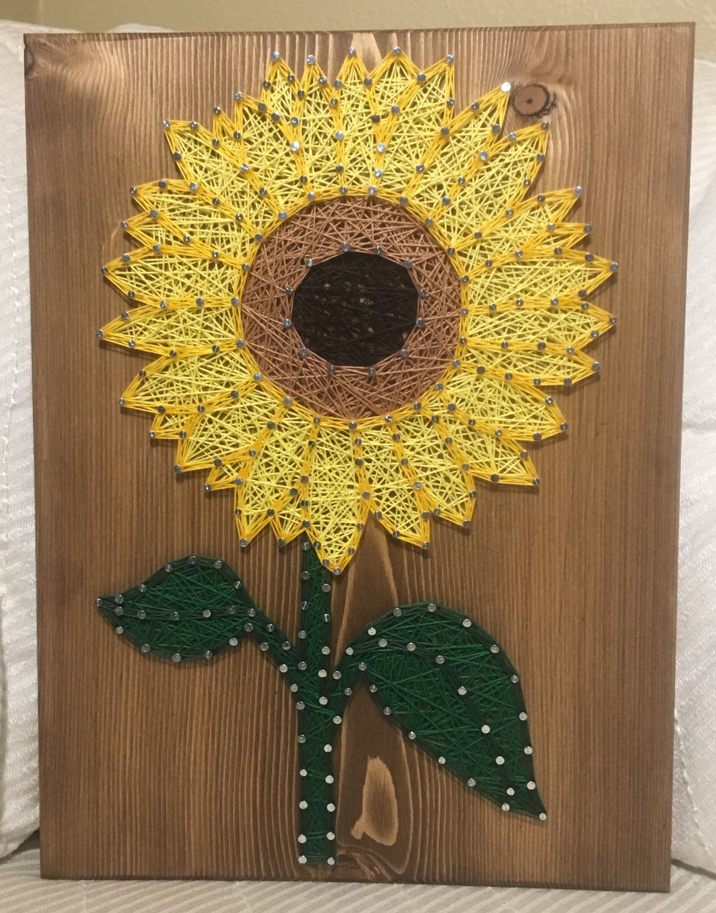CUSTOM Small Sunflower String Art Sign, sunflower wall art, Flower ...