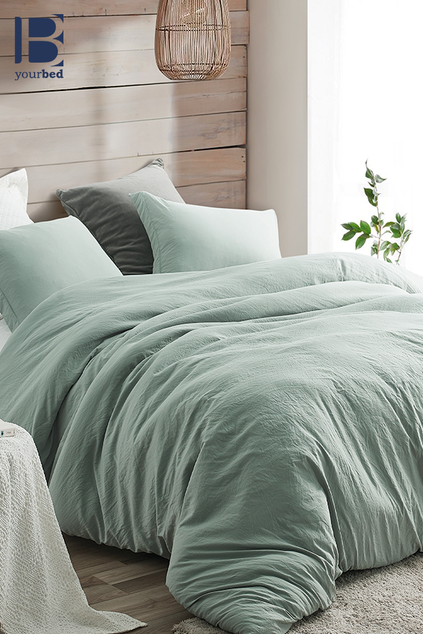 Oversized Twin Queen Or King Comforter With Removable Twin Queen Or King Extra Large Duvet Cover Iceberg Green Natural Loft Green Duvet Green Duvet Covers Duvet Covers